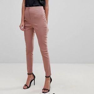 AliceOlivia Style Mauve High Waist Cigarette Pants